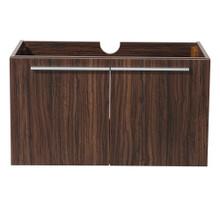 """Fresca  FCB8090GW Fresca Vista Walnut 36"""" Wall Mount Modern Bathroom Cabinet"""
