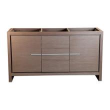 """Fresca  FCB8119GO Fresca Allier 60"""" Gray Oak Modern Double Sink Bathroom Cabinet"""