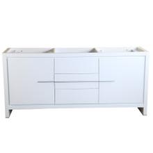 "Fresca  FCB8172WH Fresca Allier 72"" White Modern Double Sink Bathroom Cabinet"