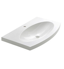 "FVS5092WH Fresca Energia 36"" White Integrated Sink / Countertop"