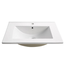 "FVS6224WH Fresca Torino 24"" White Integrated Sink / Countertop"