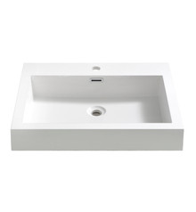 "FVS8006WH Fresca Nano 24"" White Integrated Sink / Countertop"