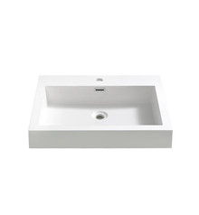 "FVS8058WH Fresca Alto 23"" White Integrated Sink / Countertop"