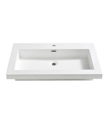 "FVS8080WH Fresca Medio 32"" White Integrated Sink / Countertop"