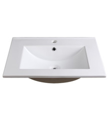 "FVS8125WH Fresca Allier 24"" White Integrated Sink / Countertop"