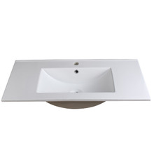 "FVS8136WH Fresca Allier 36"" White Integrated Sink / Countertop"