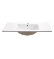 "FVS8140WH Fresca Allier 40"" White Integrated Sink / Countertop"