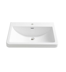"FVS8525WH Fresca Milano 26"" White Integrated Sink / Countertop"