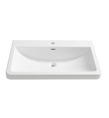 "FVS8532WH Fresca Milano 32"" White Integrated Sink / Countertop"