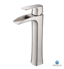 FFT3072BN Fresca Fortore Single Hole Vessel Mount Bathroom Vanity Faucet - Brushed Nickel