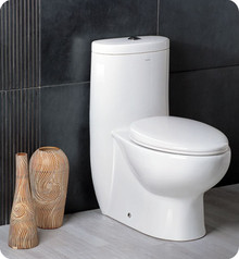 FTL2309 Fresca Delphinus One-Piece Dual Flush Toilet w/ Soft Close Seat