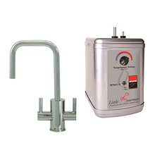 """Mountain Plumbing MT1831DIY-NL-PVDBRN """"The Little Gourmet"""" Instant Hot & Cold Water Faucet With Heating Tank - PVD Brushed Nickel"""