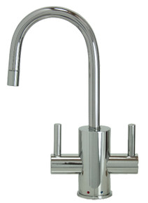 """Mountain Plumbing MT1841-NL-PVDBRN """"The Little Gourmet"""" Instant Hot & Cold Water Faucet - PVD Brushed Nickel"""