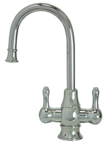 """Mountain Plumbing MT1851-NL-PVDBRN """"The Little Gourmet"""" Instant Hot & Cold Water Faucet - PVD Brushed Nickel"""