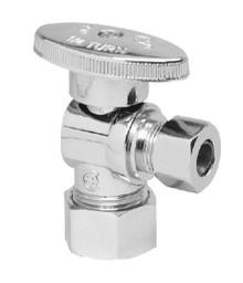 Mountain Plumbing MT403-NL-PN Brass Oval Handle Angle Valve - Polished Nickel