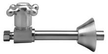 Mountain Plumbing MT417X-NL-PVD Cross Handle Straight Sweat Valve - Polished Brass