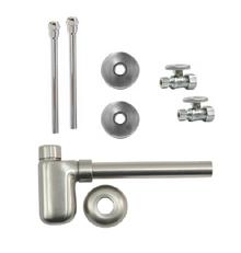 Mountain Plumbing MT4420-NL-CPB Lavatory Supply Kit - Straight - Polished Chrome
