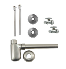 Mountain Plumbing MT4420-NL-SC Lavatory Supply Kit - Straight - Satin Chrome