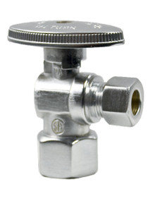 Mountain Plumbing MT401-NL-PN Brass Oval Handle Angle Valve - Polished Nickel