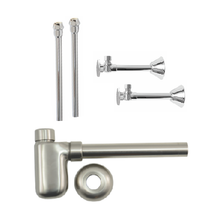 Mountain Plumbing MT3320X-NL-BRN Lavatory Supply Kit w/ Decorative Trap - Brushed Nickel
