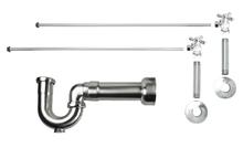 Mountain Plumbing MT616MASS-NL-BRN New England Lavatory Supply Kit - Angle - Brushed Nickel