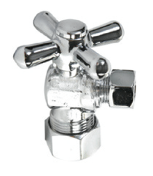 Mountain Plumbing MT616-NL-PVDBB Mini Cross Handle Angle Valve - PVD Polished Bronze