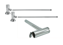 """Mountain Plumbing  MT9002-NL-PN  Lavatory Supply Kit w/ Decorative Trap & Clean-Out Plug - Angle - Contemporary Round Handle - (5/8"""" O.D.) 1/2""""  - Polished Nickel"""