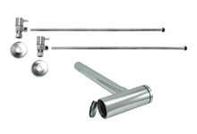 """Mountain Plumbing  MT9004-NL-BRN  Lavatory Supply Kit w/ Decorative Trap & Clean-Out Plug - Angle - Contemporary Lever Handle - (5/8"""" O.D.) 3/8""""  - Brushed Nickel"""