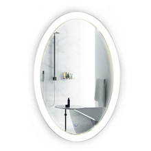 """LED 20 """" x 30 """" Oval Lighted Bathroom Mirror With Dimmer & Defogger , Sol by Krugg"""