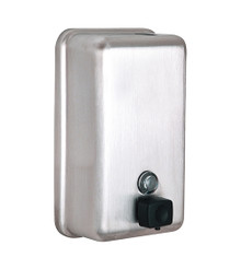 Alpine  423-SSB Stainless Wall Mount Soap Dispenser  - Stainless Steel Brushed