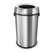 Alpine  470-65L Stainless Steel Open Top Trash Can