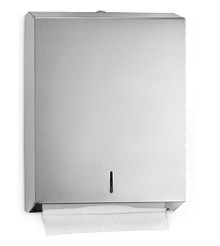 Alpine  480 Stainless Paper Wall Mount Towel Dispenser - C-Fold/Multifold