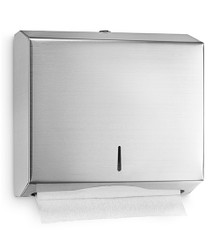 """Alpine  481 Stainless Wall Mount Paper Towel Dispenser 10-1/5"""" H - C-Fold/Multifold"""