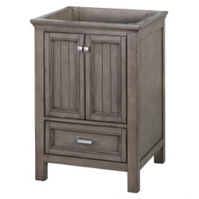 "Foremost BAGV2422D 24"" Brantley Vanity Cabinet 2 Doors, 1 Drawer, 1 Interior Adjustable Shelf - Distressed Grey"