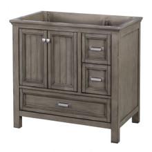 "Foremost BAGV3622D 36"" Brantley Vanity Cabinet 2 Doors, 3 Drawers, 1 Interior Adjustable Shelf - Distressed Grey"