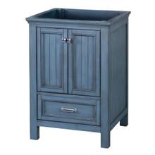 """Foremost BABV2422D 24"""" Brantley Vanity Cabinet 2 Doors, 1 Drawer, 1 Interior Adjustable Shelf - Harbor Blue"""
