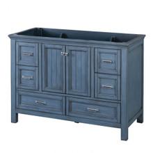 "Foremost BABV4822D 48"" Brantley Vanity Cabinet 2 Doors, 6 Drawers, 1 Interior Adjustable Shelf - Harbor Blue"
