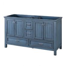 """Foremost BABV6022D 60"""" Brantley Vanity Cabinet 4 Doors, 4 Drawers, 2 Interior Adjustable Shelves - Harbor Blue"""