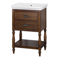 "Foremost CHNVT2435 Cherie 24"" Bathroom Vanity & Sink Combo  - Dark Walnut"