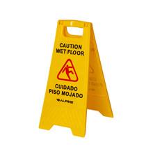 """Alpine ALP499 Industries 24"""" Caution Wet Floor Sign - Yellow"""