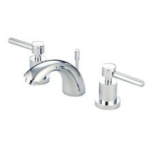 """Kingston Brass Two Handle 4"""" to 8"""" Mini Widespread Lavatory Faucet with Brass Pop-Up Drain - Polished Chrome KS2951DL"""