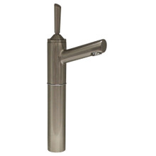 """Whitehaus 3-3345-BN Centurion Single Hole Stick Handle Elevated Lavatory Faucet with 7"""" Extension and Short Spout - Brushed Nickel"""