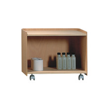 Whitehaus AECB55N Aeri Large Wood Cart with Two Shelves and Casters - Natural (Birchwood)