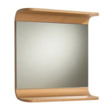 Whitehaus AEM055N Aeri Rectangular Mirror with Integral Wood Shelf - Natural (Birchwood)