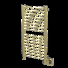 "Amba  Sirio S2142SB Towel Warmer & Space Heater - 24"" W x 44"" H x 4 3/4"" D - Satin Brass"