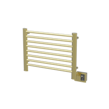 "Amba  Sirio S2921SB Towel Warmer & Space Heater - 32"" W x 23"" H x 4 3/4"" D - Satin Brass"