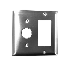"Amba AJ-DGP-B Jeeves Double Gang Plate - 4 1/2"" W x 4 1/2"" H x 1/4"" D - Brushed"