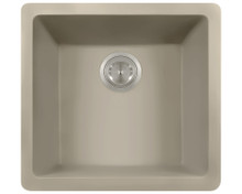 Polaris P508ST Single Bowl AstraGranite Kitchen Sink - Matte Slate
