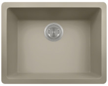 Polaris P808ST Single Bowl 21 5/8 in. AstraGranite Kitchen Sink - Matte Slate