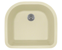 Polaris P428BE Beige D-Shape Undermont AstraGranite Kitchen Sink 24 3/4 in.